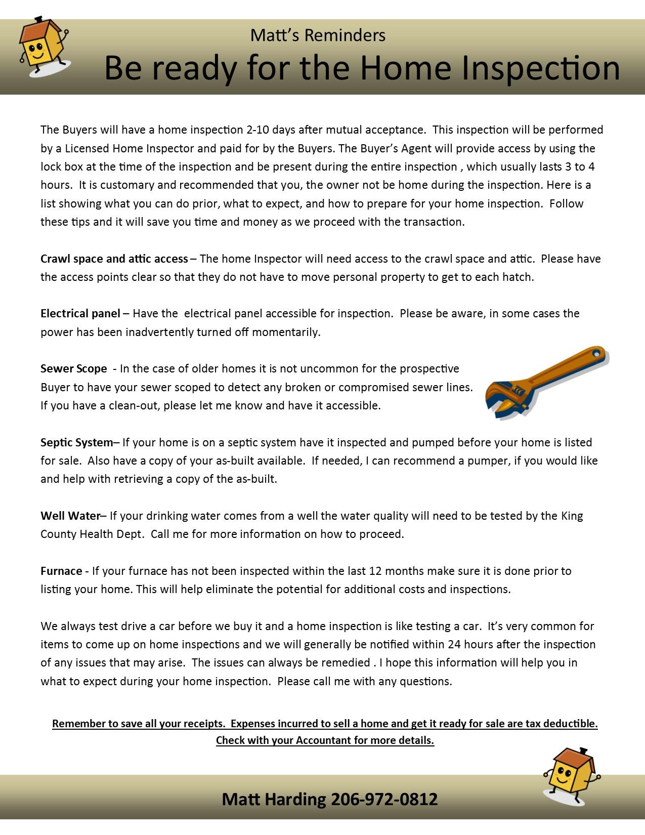 pre home inspection checklist pre inspection checklist a